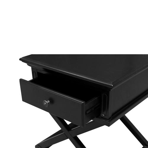 Hamptons Cross Side Table - Black