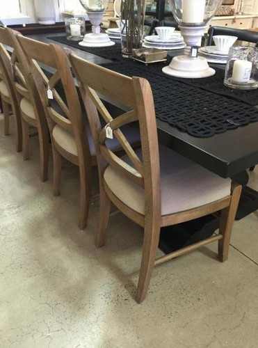 Cross Back Dining Chair - French Oak