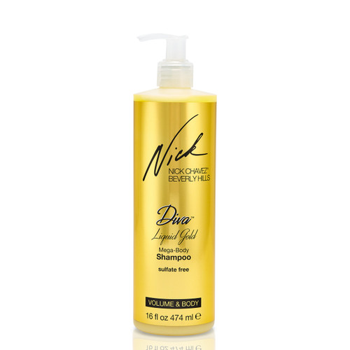 Diva Liquid Gold Mega-Body Shampoo 16oz