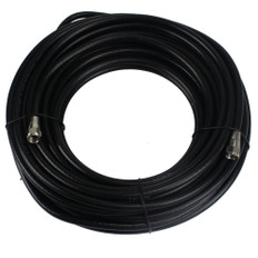 50-Feet Satellite RG-6 Coaxial Cable with Ends | Black