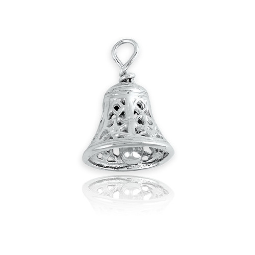 Sterling Silver 925 Bell Charm
