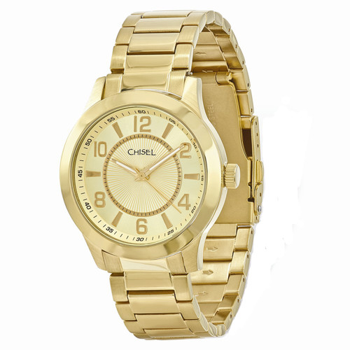 Chisel Quartz Goldtone Stainless Steel Mens Watch TPW90