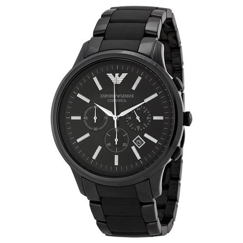 Emporio Armani AR1451 Ceramica 47mm Black Chronograph Mens Watch