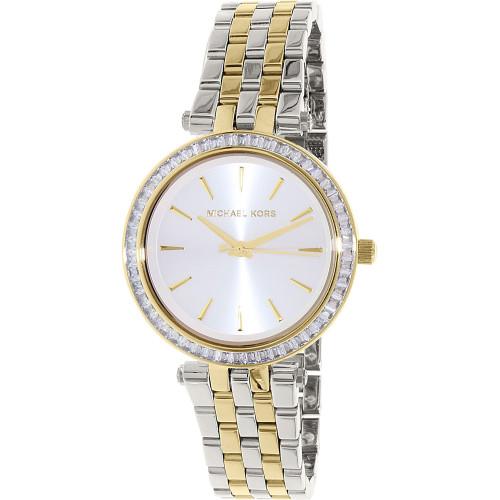 Michael Kors MK3405 Darci Crystal Two-Tone Stainless Steel Womens Watch