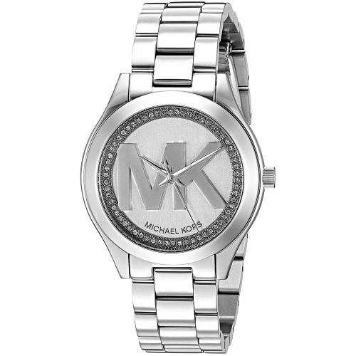 Michael Kors MK3548 Slim Runway Crystal Stainless Steel Womens Watch