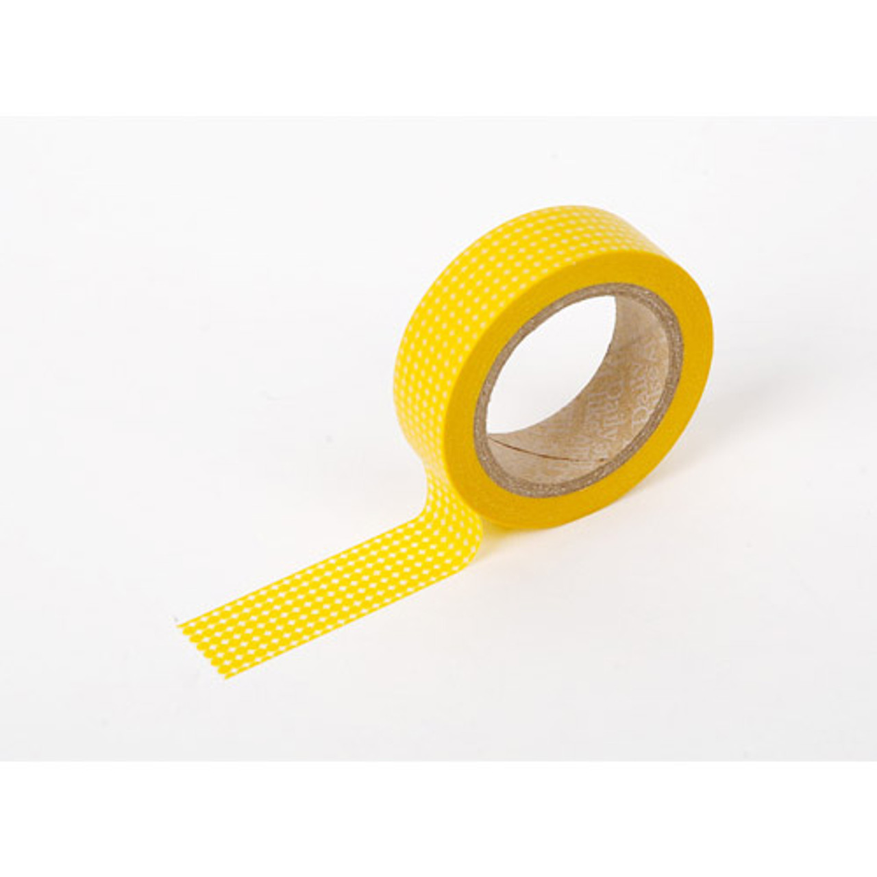dailylike deco masking tape single yellow dot. Black Bedroom Furniture Sets. Home Design Ideas