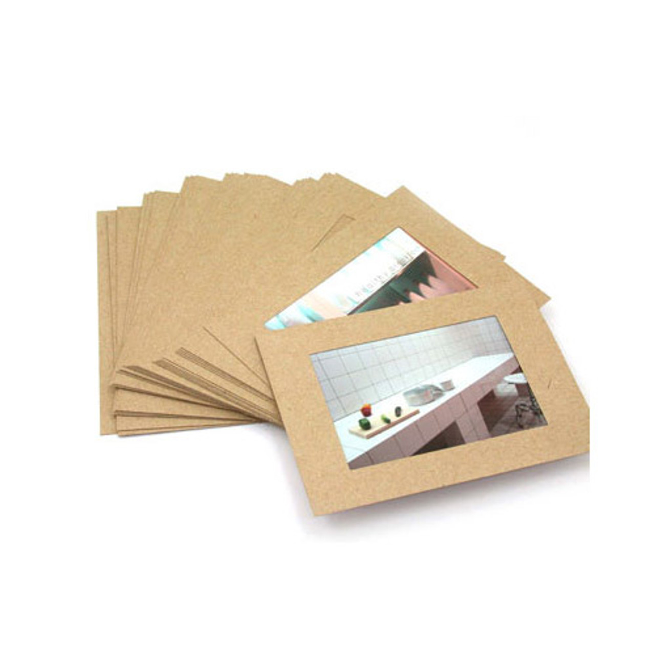 Moods&Views 4X6 Kraft paper photo frame set of 30 sheets fallindesign
