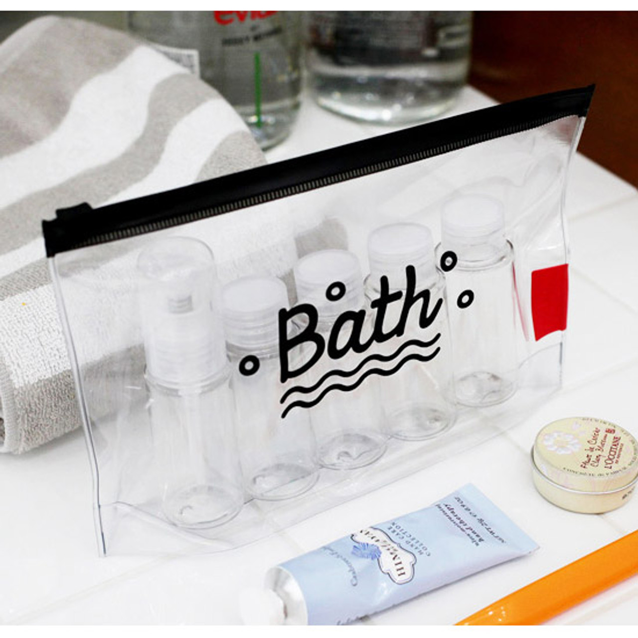 2nul Travel Clear Zip Lock Toiletries Pouch Fallindesign