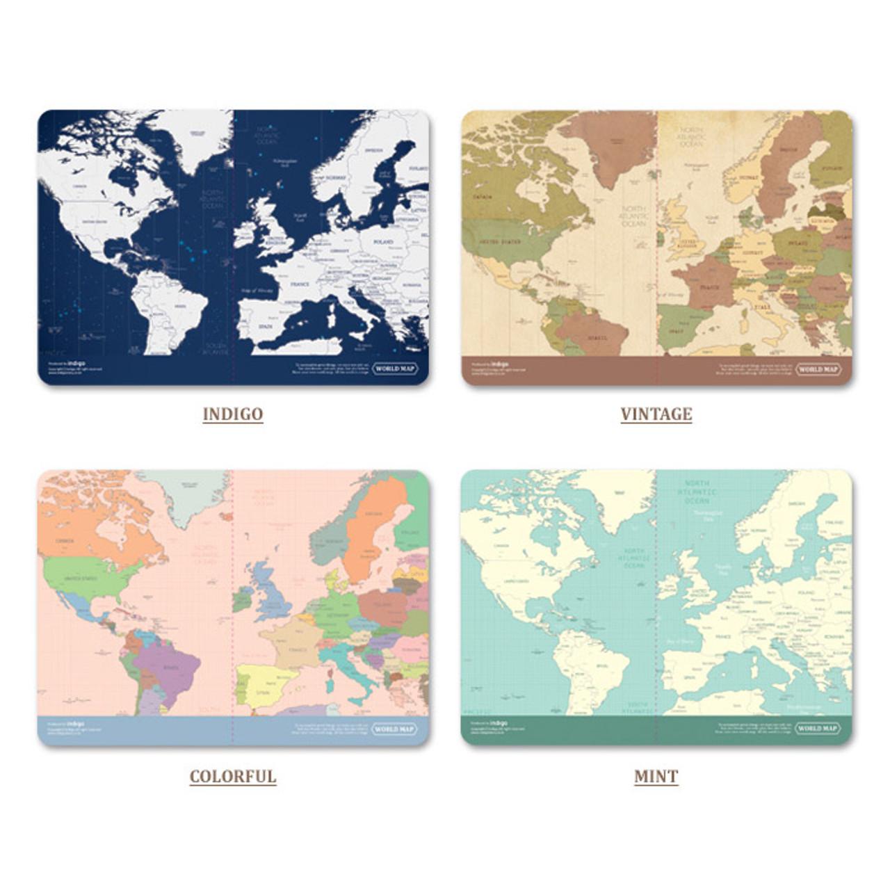 Indigo world map passport cover case fallindesign colors of world map passport cover case gumiabroncs Choice Image