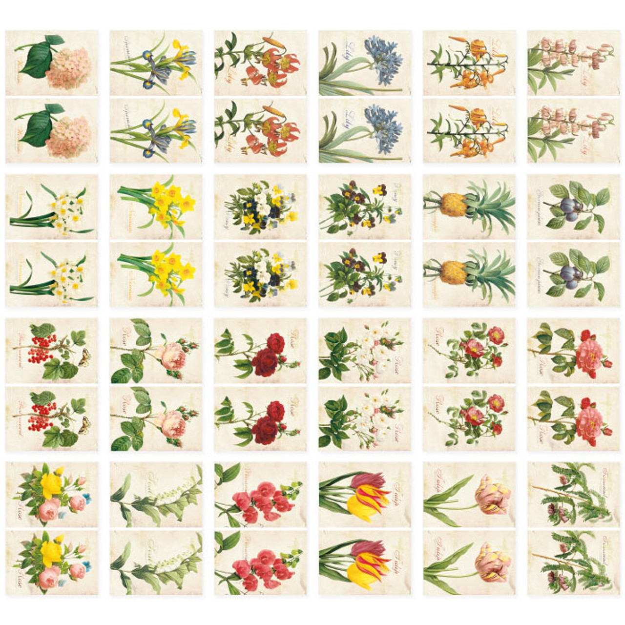 Nacoo Flower Small Label Sticker Set Fallindesign Com