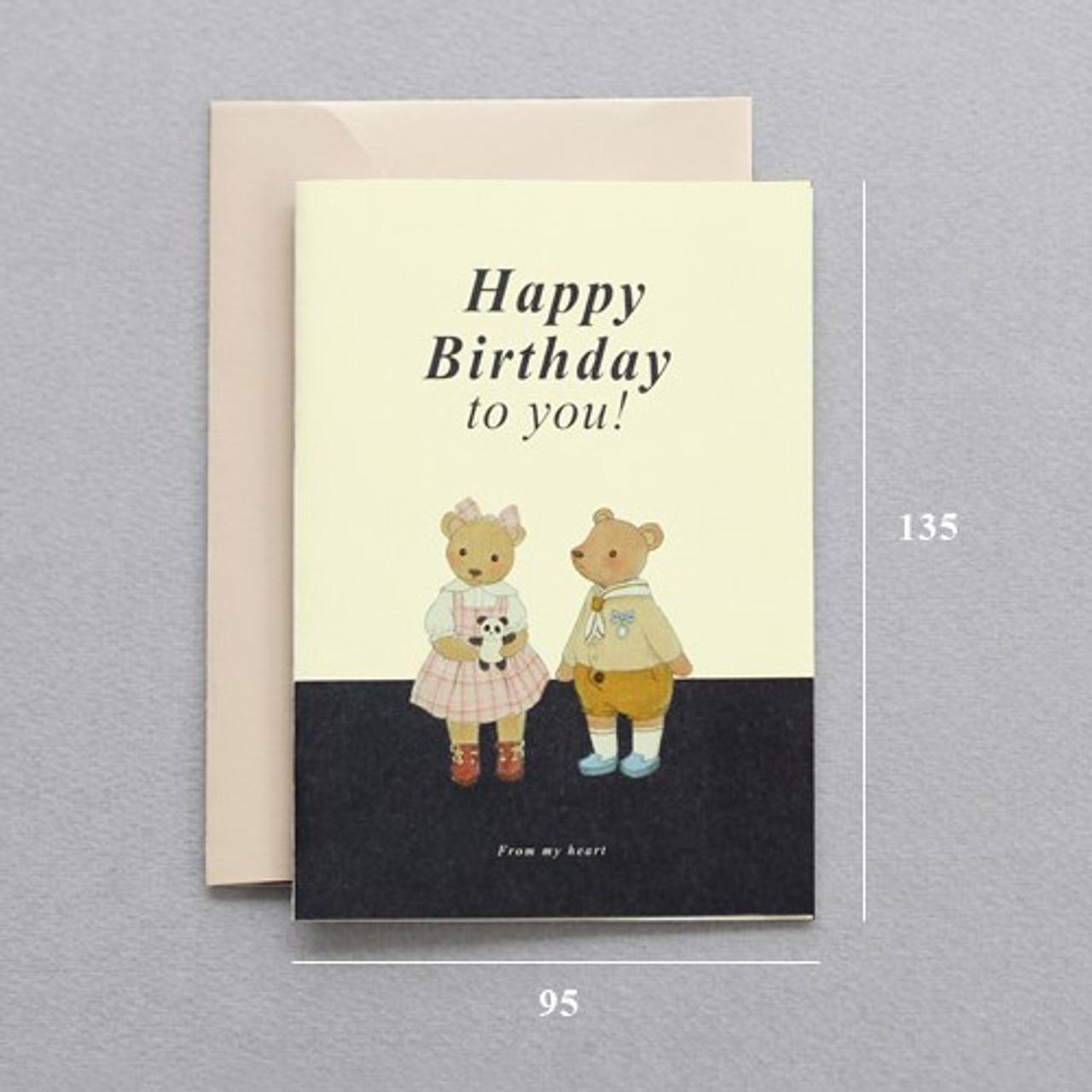 Iconic Happy Birthday Illustration Pattern Message Card