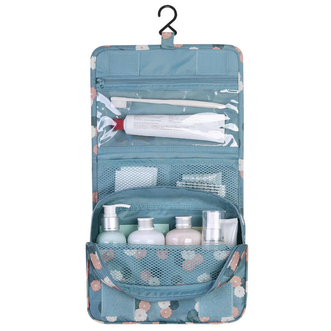 Monopoly Pattern travel hanging toiletry pouch bag - fallindesign