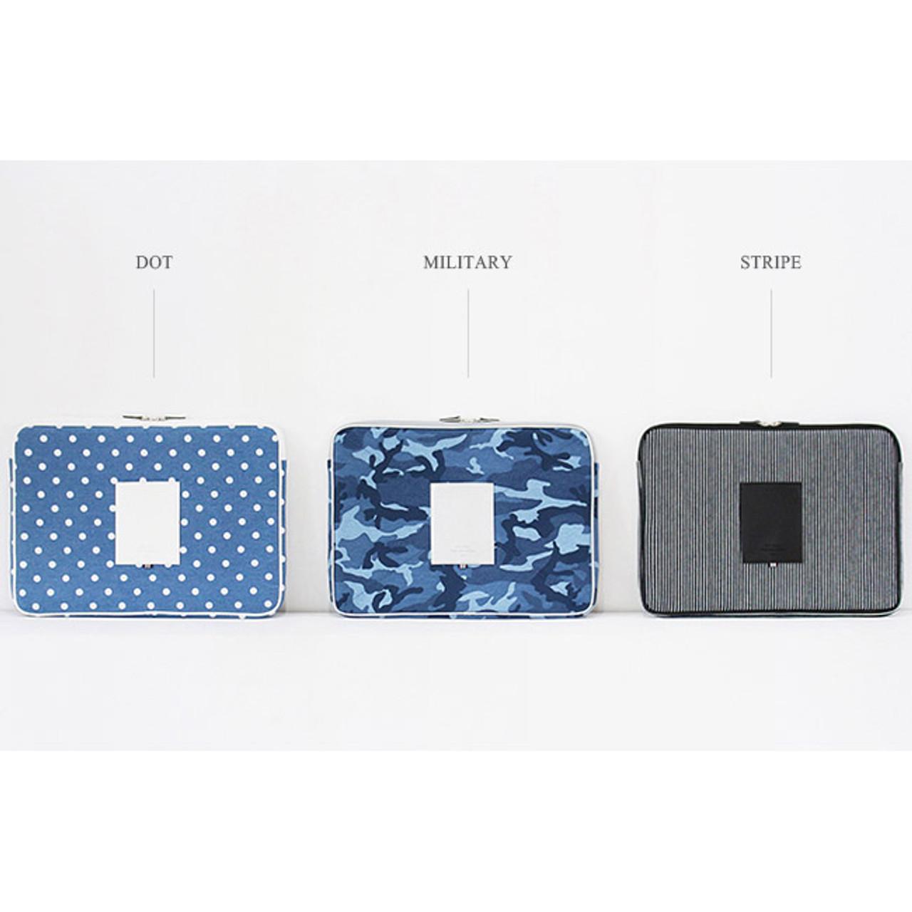 Indigo The Basic Cotton Denim Laptop Pouch Case 13 Inch Ver 2