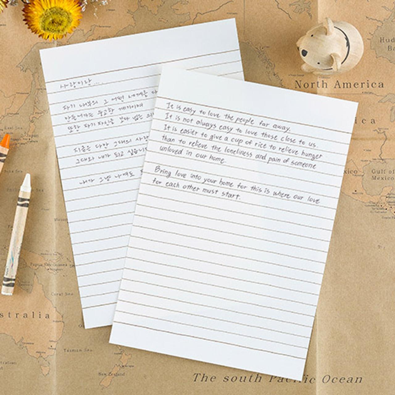 ardium simple letter and envelope set