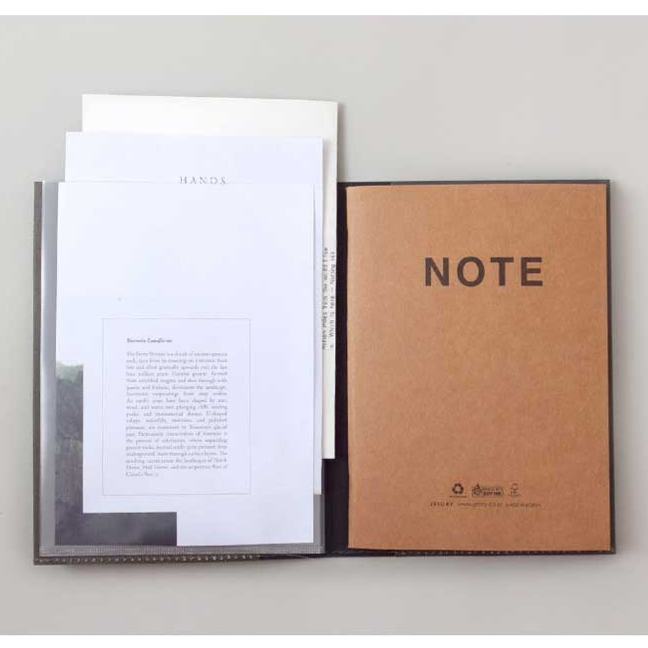 Jstory Clear Pockets File Holder With Notebook Falindesign
