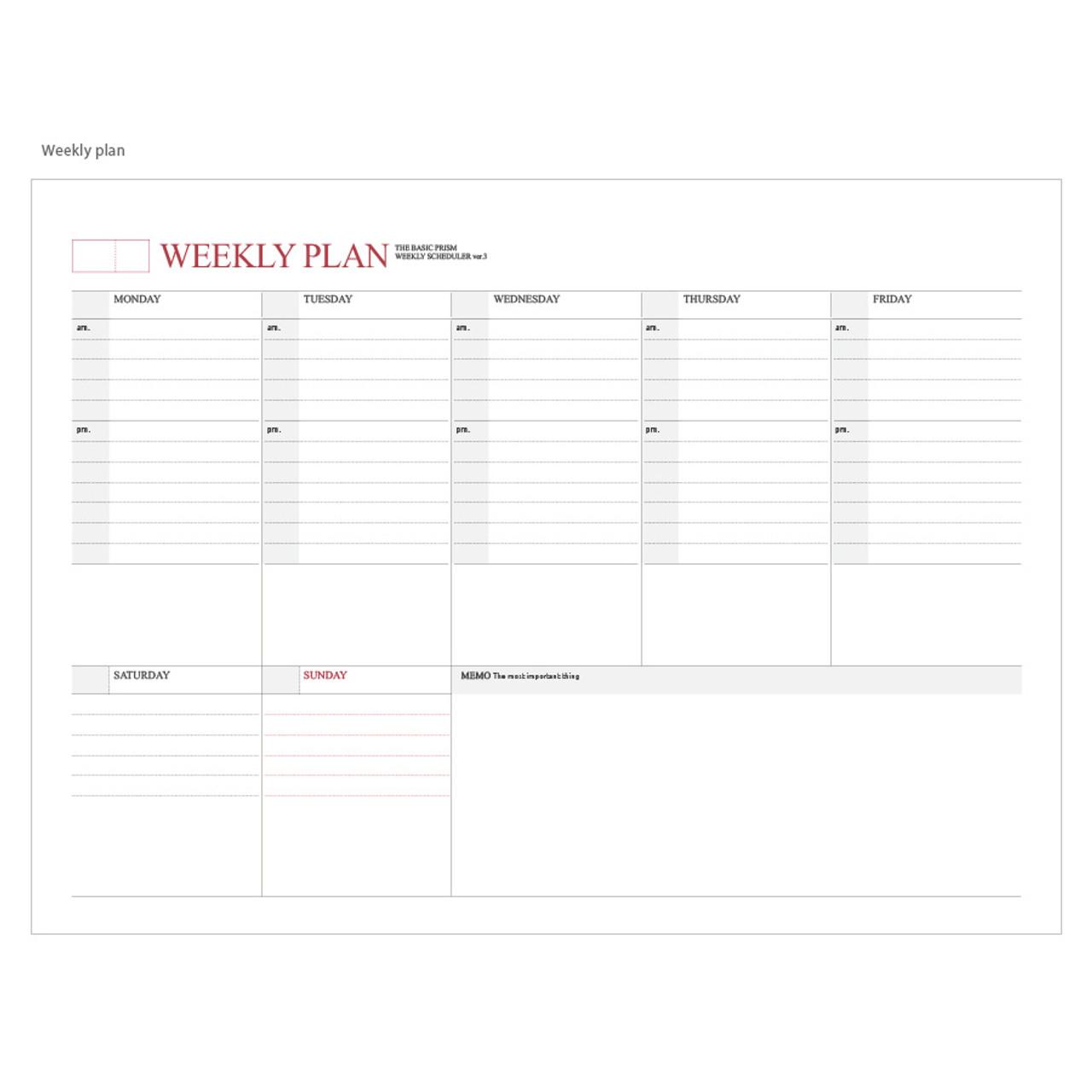 2017 indigo prism wirebound weekly undated scheduler planner
