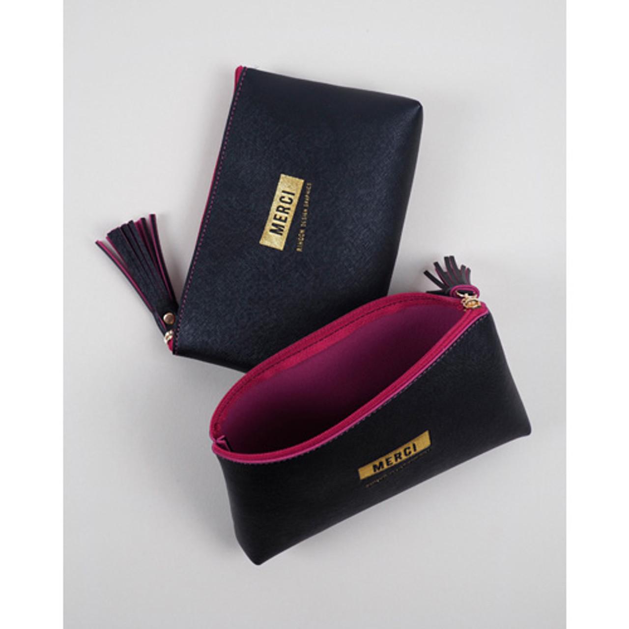 Rihoon Merci tassel zipper large pouch