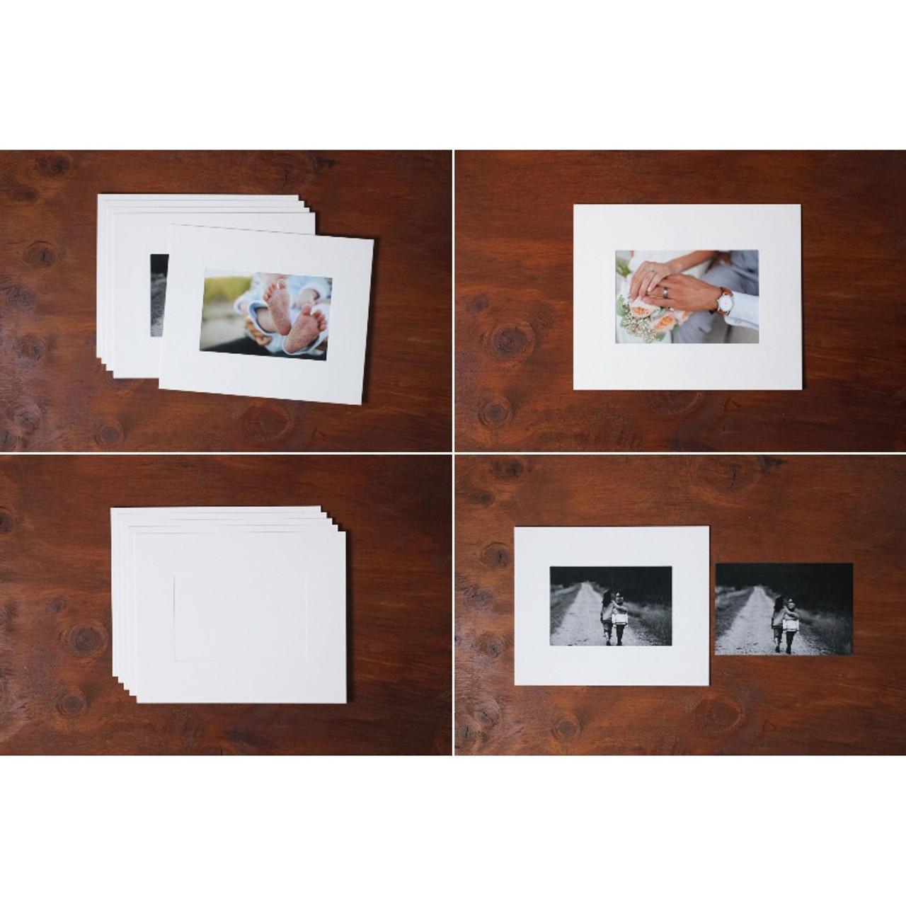 Moods Amp Views 4x6 Premium White Paper Photo Frame Set