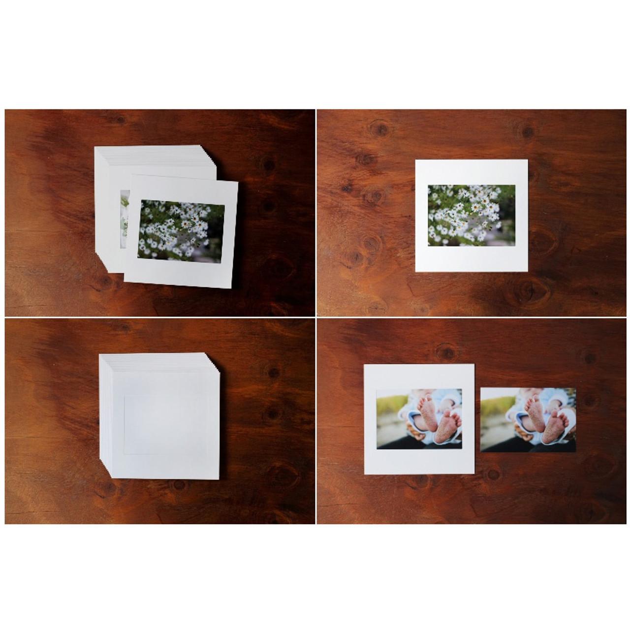 moods views square 4x6 white paper photo frame set of 15 sheets. Black Bedroom Furniture Sets. Home Design Ideas