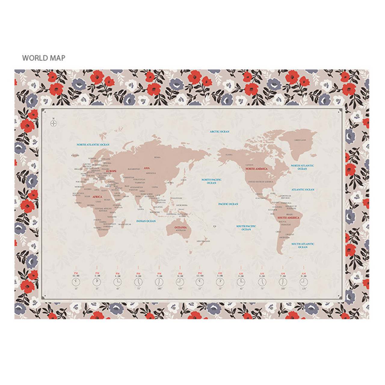 Wanna this 2018 pour vous humming spiral bound large desk calendar world map 2018 pour vous humming large desk calendar gumiabroncs Gallery
