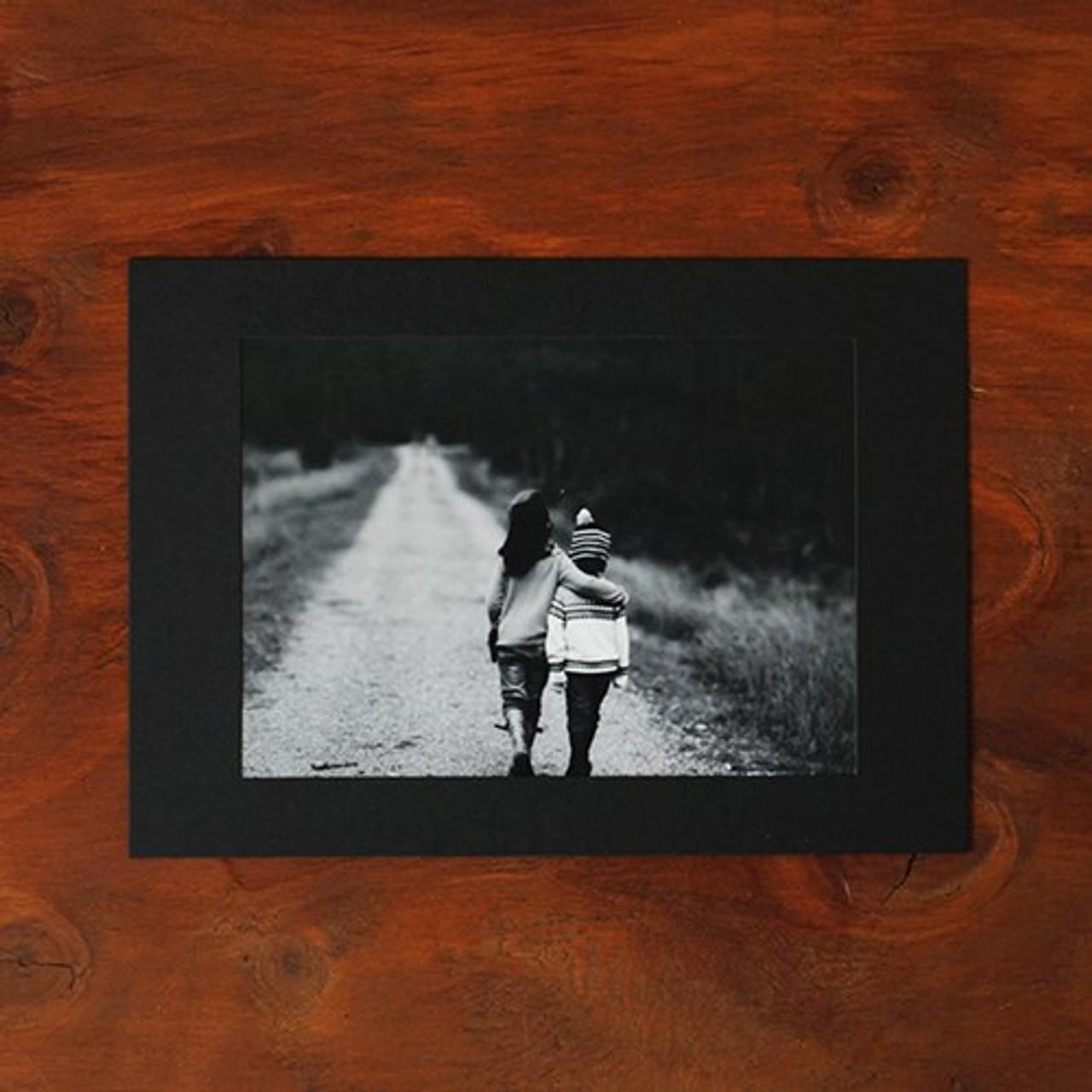 Moods&Views Square 5X7 black paper photo frame set of 15 sheets