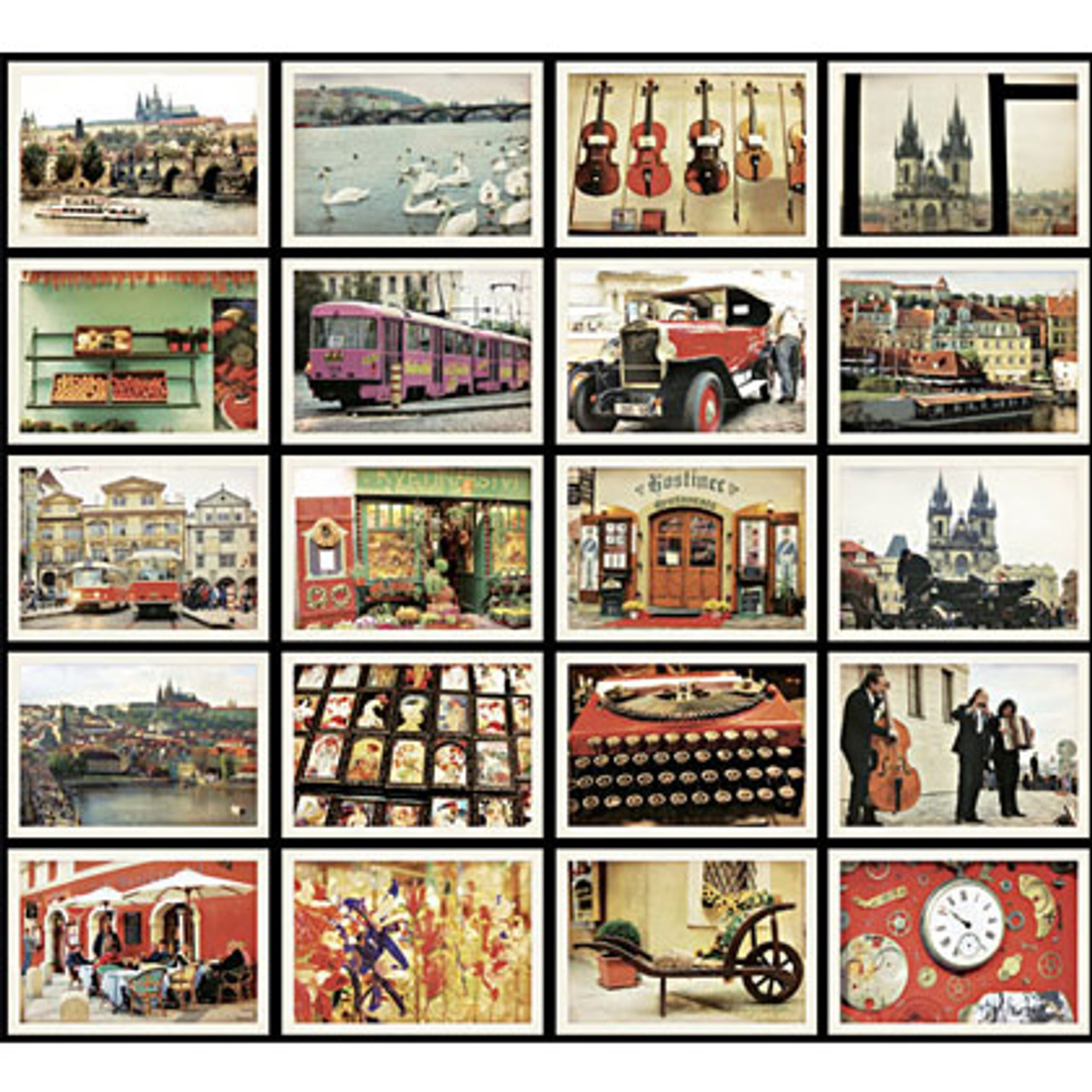 Praha Mini Postcard 56 Sheets And Envelope 36 Sheets Set