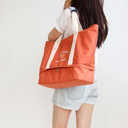 Large Travel Tote Bag With Compartments