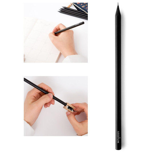 Ardium Black Wood Pencil Set Of 5 Fallindesign Com