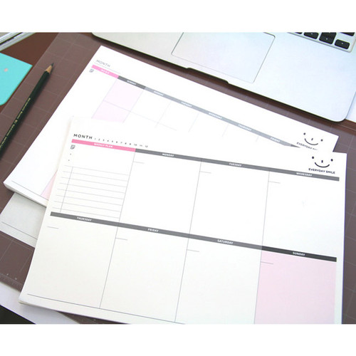 Pland Wide Amp Smart Weekly Desk Note Planner Scheduler