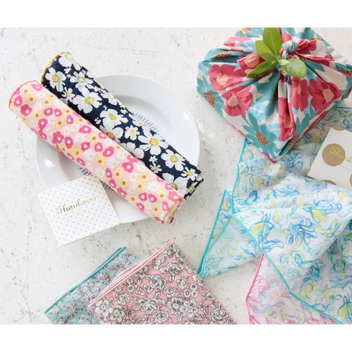 Wannabe flower pattern hankie handkerchief