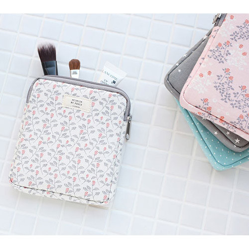 Livework Heimish Pattern Small Square Zipper Pouch