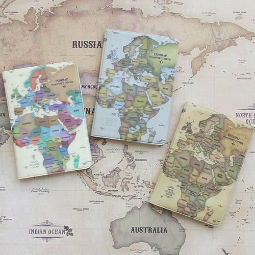 Indigo world map passport cover case ver2 fallindesign world map passport cover case ver2 gumiabroncs