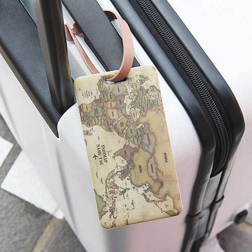 Indigo world map travel luggage name tag ver2 fallindesign antique world map travel luggage name tag gumiabroncs Gallery