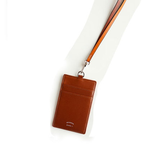 Ginger Card Holder Case With Leather Long Strap Fishing