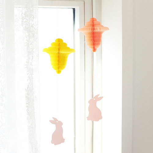 Livework Paper mobile card with envelope set - Spring rabbit