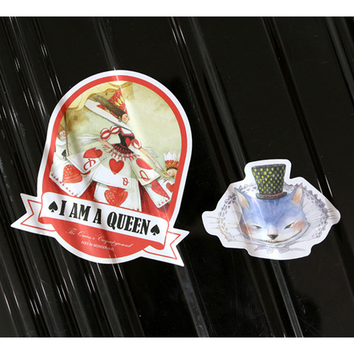 Detail of alice pvc water resistant point sticker
