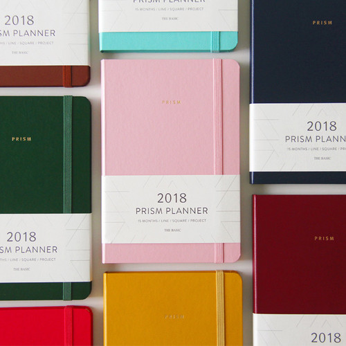 2018 Prism monthly dated planner notebook