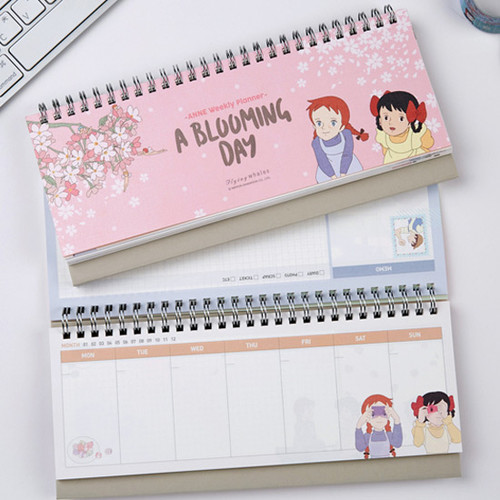 Anne Of Green Gables Spiral Undated Weekly Desk Planner