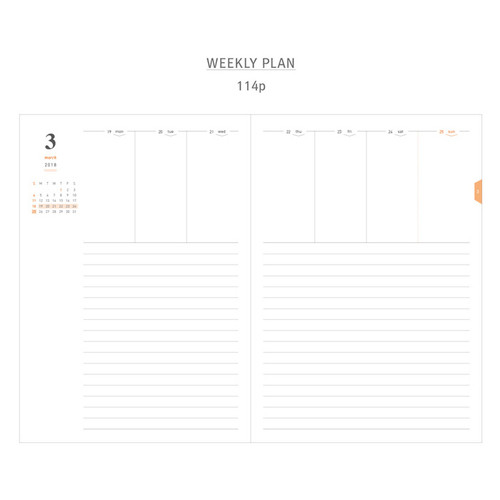Gyou  A Tous Moments Dated Weekly Planner Diary Agenda