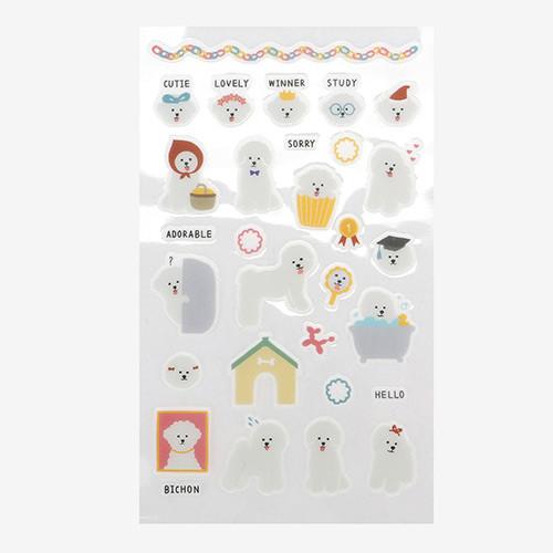 Daily transparent sticker - Bichon Frise