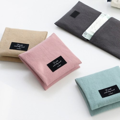Plain secret daily cotton pouch