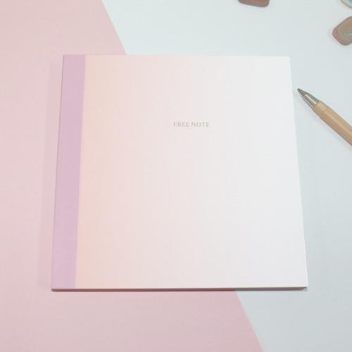 Pink gradation medium plain notebook
