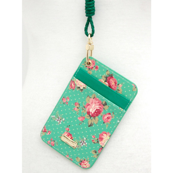 wanna this pour vous flower pattern flat card holder case