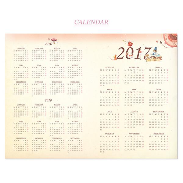Alice In Wonderland Desk Calendar