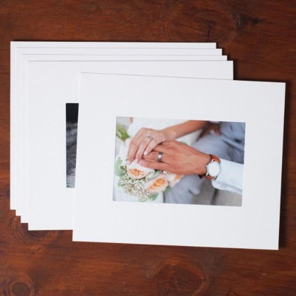 Moods&Views 4X6 Premium white paper photo frame set