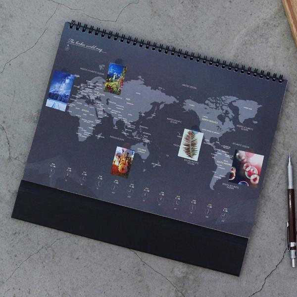 Wanna this 2018 bon bon spiral bound large desk calendar world map 2018 bon bon spiral bound large desk calendar gumiabroncs Gallery