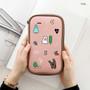 Pink - Ghost pop cute illustration pencil case ver2