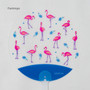 Flamingo - Animal and flower pattern round hand fan