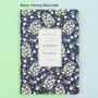 Navy cherry blossom - 2018 Flower pattern dated weekly journal