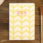 Yellow - 2018 Spring come pattern dated monthly planner